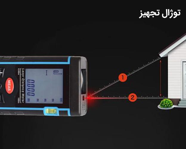 متر لیزری 100 متری سندوی مدل SW-A100